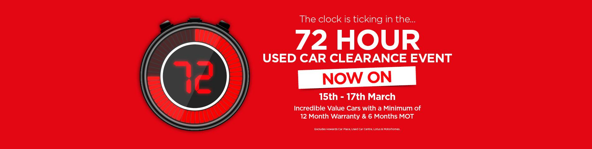 72 Hour Clearance