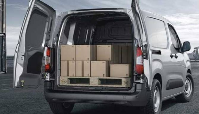all new peugeot partner van payload area