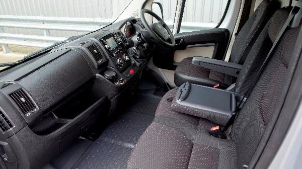 Boxer van cockpit