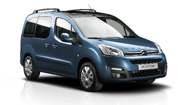 Citroen Berlingo Multispace - In blue - Front side View