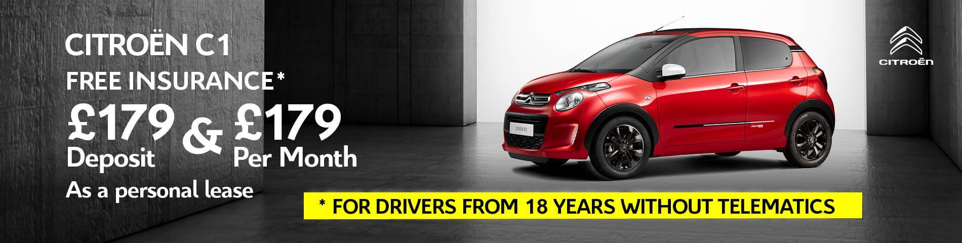 Citroen C1 Free Insurance For Drivers From 18 Years Without Telematics