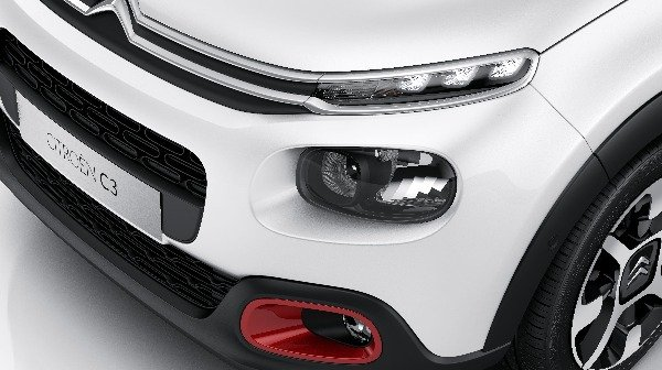 citroen c3 driving lights with accent colours