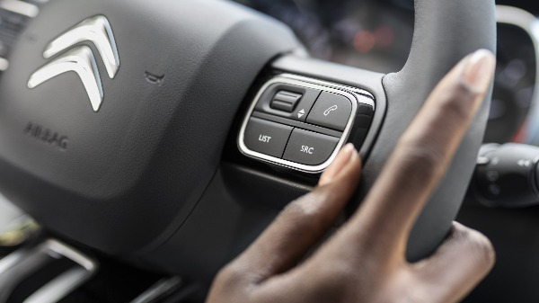 Citroen C3 steering wheel controls and functions