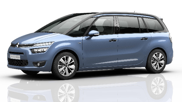 CITROEN GRAND C4 PICASSO - SIDE VIEW IN BLUE
