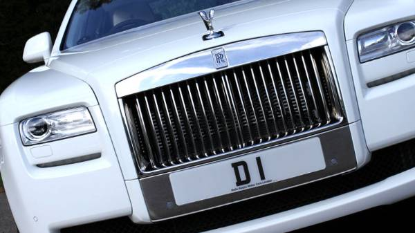 D 1 registration plate