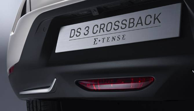 DS 3 E-TENSE CROSSBACK Back Plate