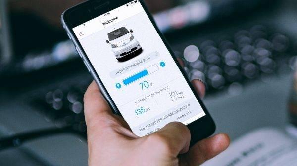 e-NV200 van charging app