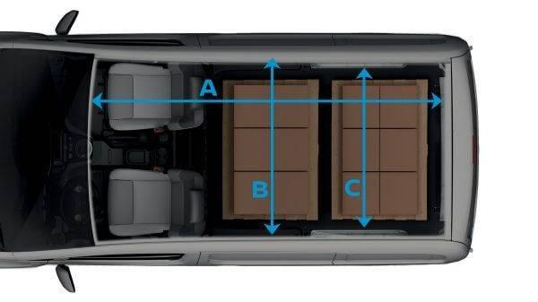 e-NV200 Van Exterior Dimensions
