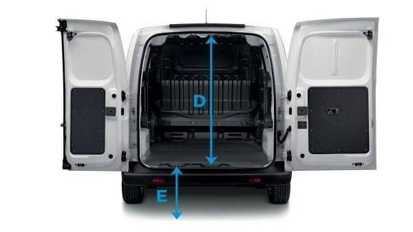 e-NV200 van dimensions