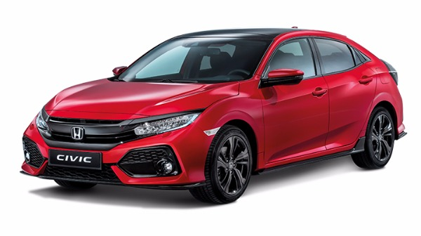 Honda Civic red LHS