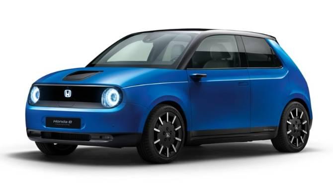 Honda e Prototype Blue White Background Model Image