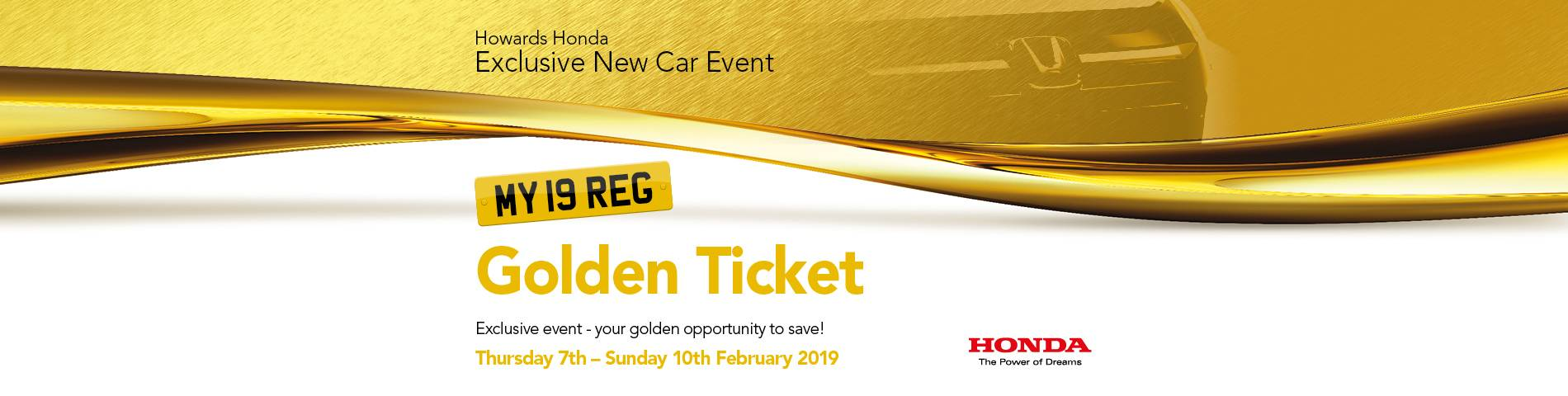 Honda Golden Ticket