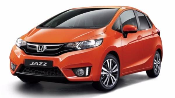 Honda Jazz orange 5 door front