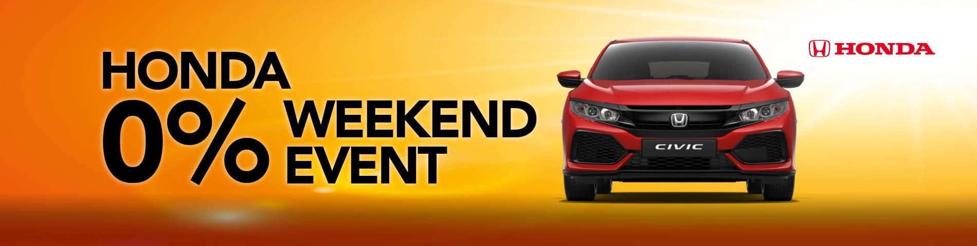 Honda Weekend Event