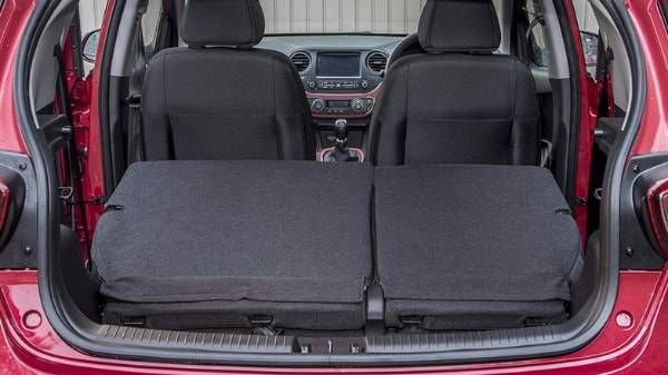 Hyundai i10 boot with back seats folded