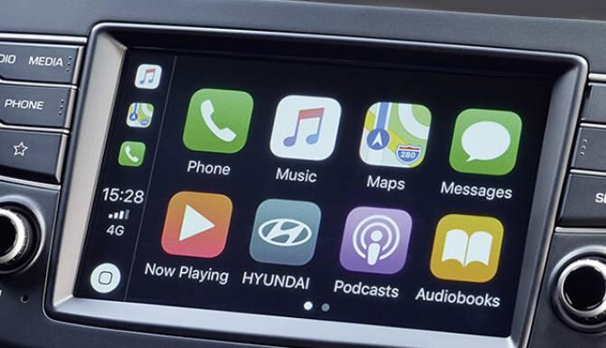 Hyundai i20 Apple CarPlay