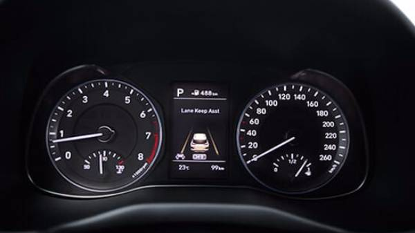 hyundai kona - digital dash display