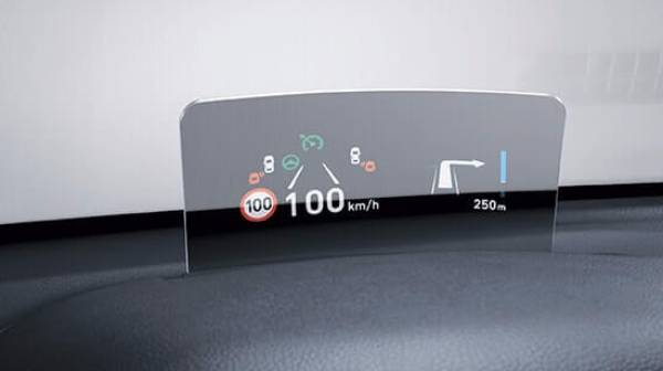 hyundai kona - head-up display