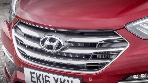 Hyundai santa fe grille