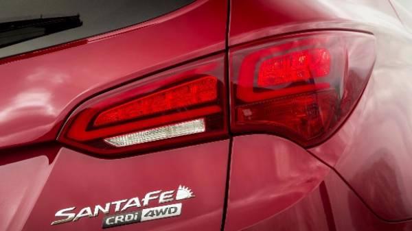 Hyundai santa fe tail light
