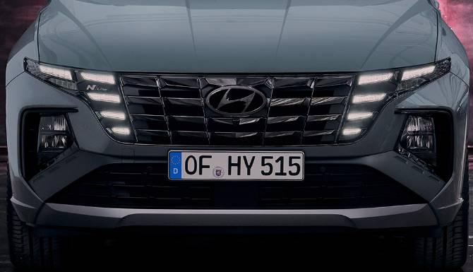 Hyundai Tucson grille