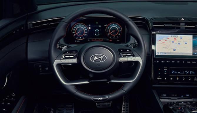 Hyundai Tucson steering wheel