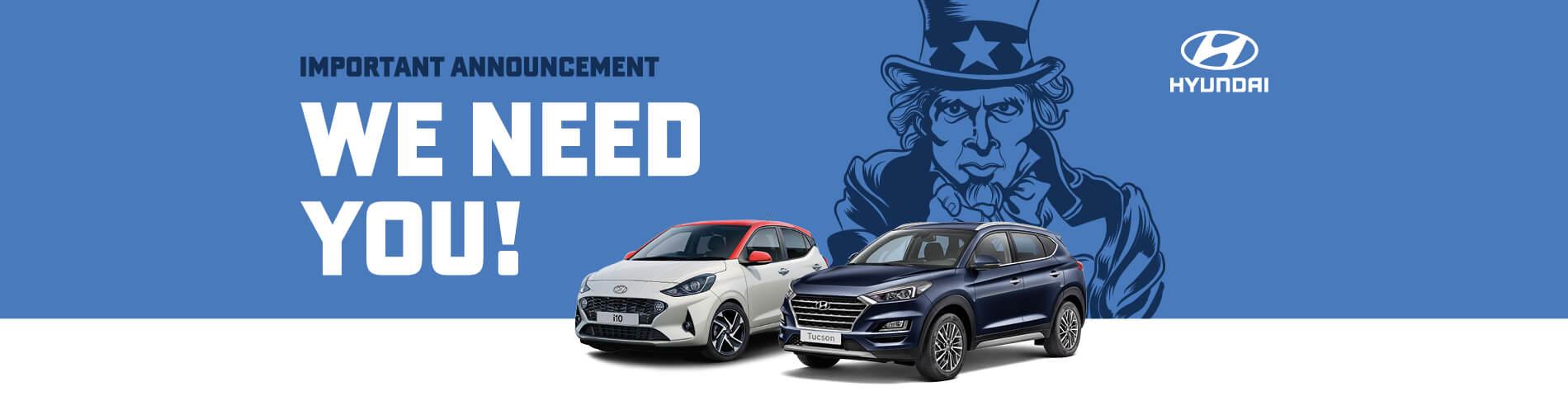 Hyundai We want your car