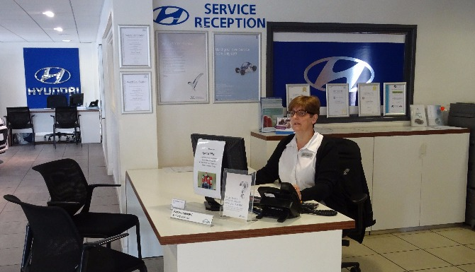 Hyundai Yeovil Service Reception
