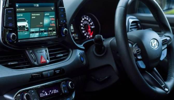 hyundai i30n interior dashboard view