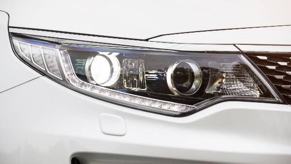 Kia Optima white headlight
