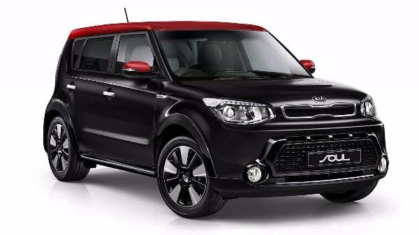 kia soul - black with red roof