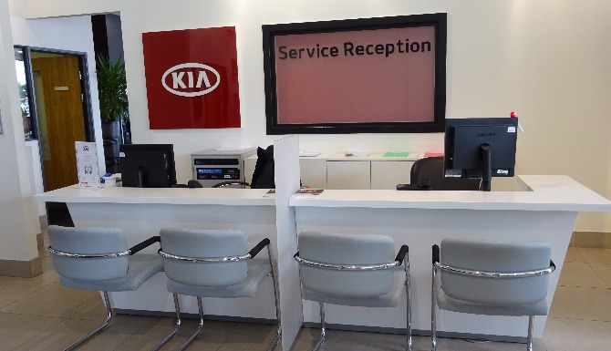Kia WSM Service Reception