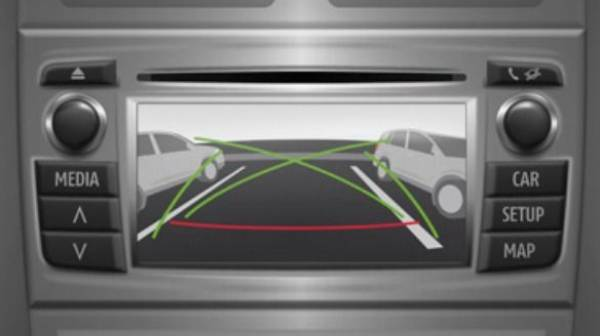 Land Cruiser reversing camera