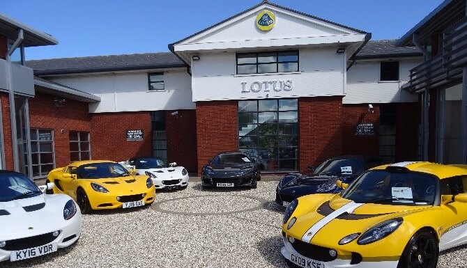 Lotus dealership block