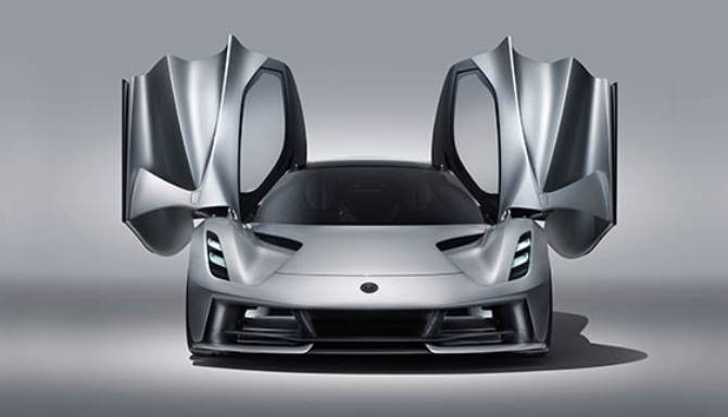 Lotus Evija exterior aerodynamic rear tunnel rear light