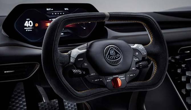 Lotus Evija Steering wheel