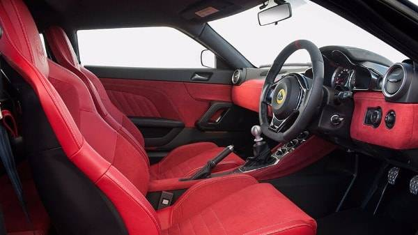 Lotus Evora 400 - Interior-Red-Alcantara