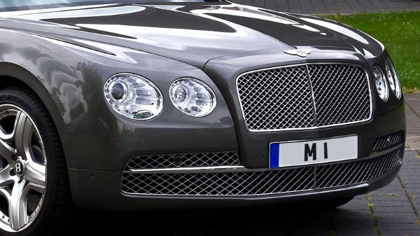 M 1 Registration Plate