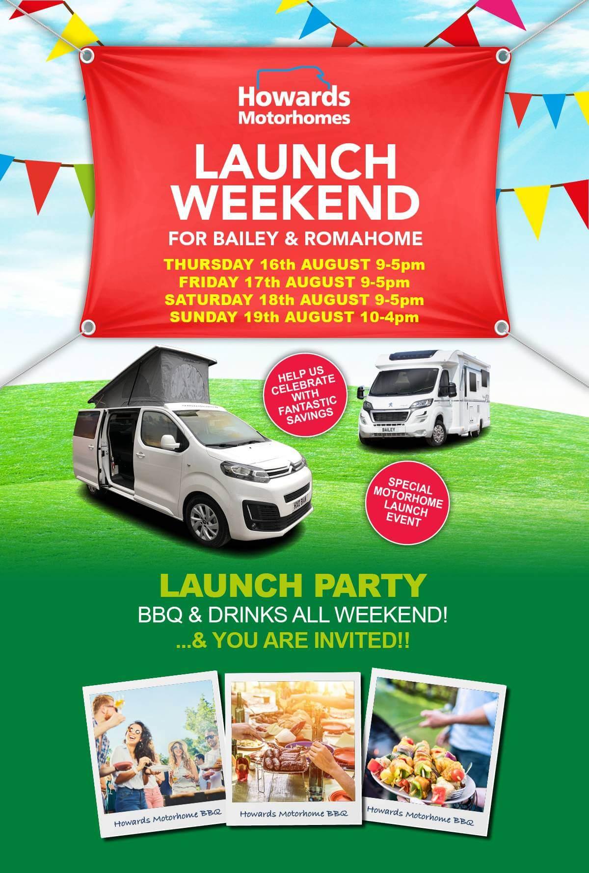 Motorhome Launch Weekend