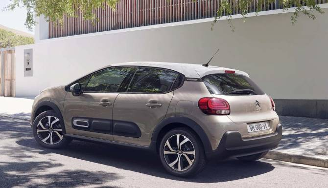 new citroen c3 parked on the street