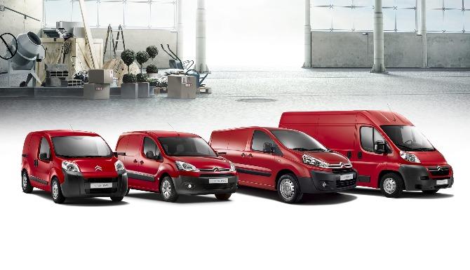 New Citroen Vans promo block