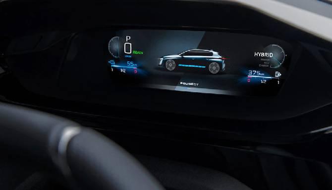 New Peugeot 308 3D digital dash