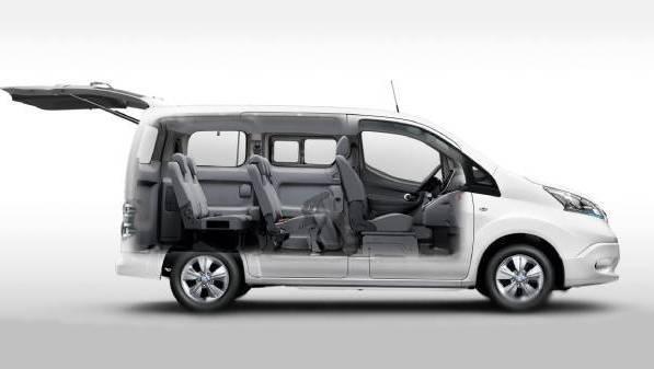 nissan e-nv200 combi - interior configuration
