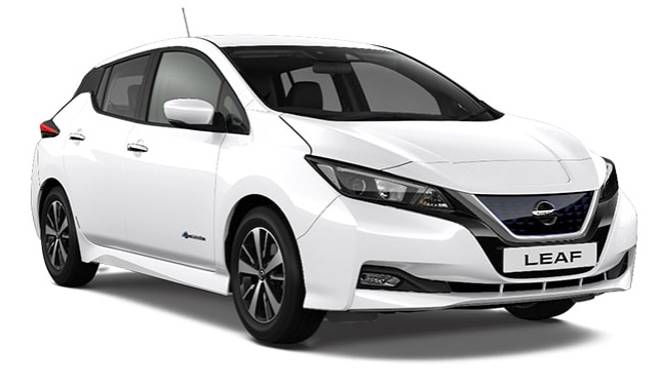 Nissan LEAF Acenta Arctic White Cut Out