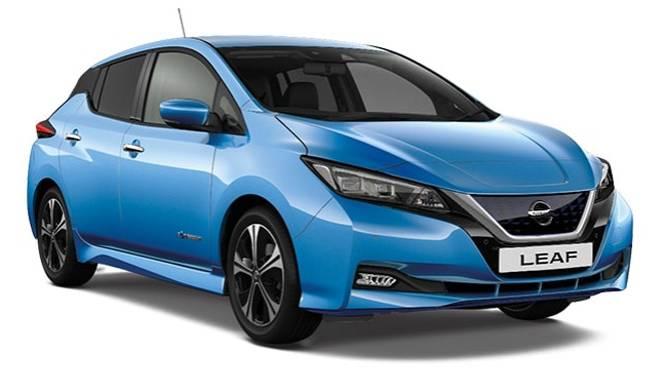 Nissan LEAF e+ Tekna Vivid Blue Cut Out