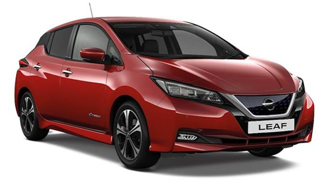 Nissan LEAF Tekna Magnetic Red Cut Out