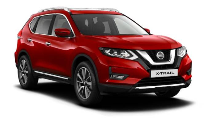 NISSAN X-TRAIL 2019 RED WHITE BACKGROUND