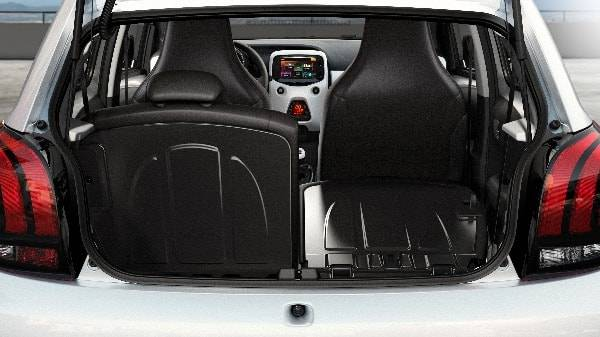 peugeot 108 3 door interior 50 50 rear seat split