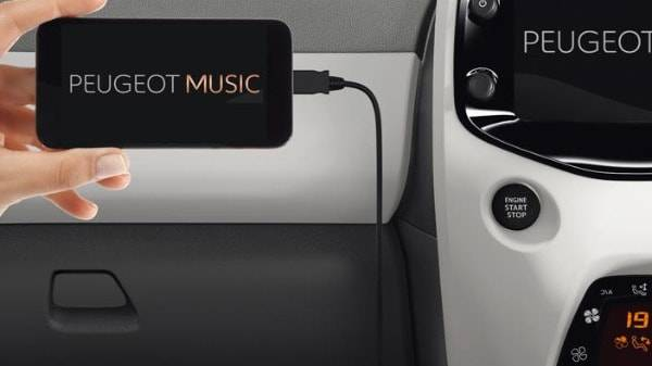 peugeot 108 mirror screen app for incar music