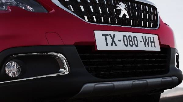 peugeot 2008 front end chrome detailing